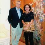 Με την Δ/ντρια του Μουσείου Γκίκα Ιωάννα Προβίδη