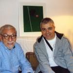 Με τον εικαστικό Stephen Antonakos