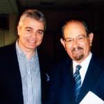 Με τον σκηνοθέτη Τάκη Βουγιουκλάκη