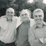Με τον ποιητή Χάρη Μεγαλυνό και τον φωτογράφο Γιώργο Τουρκοβασίλη