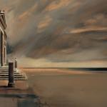 «Σ' ένα μεγάλο ουρανό» Λάδι σε ξύλο, 50Χ70 εκ. (2001)
