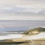 «Στη Μεγάλη Άμμο τον χειμώνα» Λάδι σε μουσαμά, 40Χ141,5 εκ. (2008)
