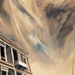 «Χειμωνιάτικο φως στην οδό Ζήνωνος» Λάδι σε ξύλο , 60Χ80 εκ. (2002)