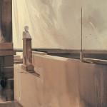 «H αλληγορία του αποχαιρετισμού» Λάδι σε ξύλο, 70Χ50 εκ. (2003)