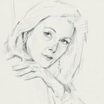 «Η ηθοποιός Τόνια Καζιάνη» Μολύβι σε χαρτί, 29,5Χ21 εκ. (2010)