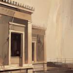 «Προαύλιο στη βροχή» Λάδι σε ξύλο, 70Χ50 εκ. (2003)