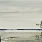 «Aύριο πάλι...»Στον Γ.Λ. Λάδι σε μουσαμά, 45Χ100 εκ. (2009)