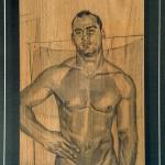 «Λουτρική ευωχία» Μολύβι σε ξύλο, 31,5X22 εκ. (1992)
