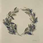 «Στεφάνι από δάφνες» Λάδι σε μουσαμά, 50Χ45 εκ. (2004)