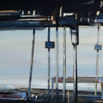 «Παραθαλάσσια ταβέρνα τον χειμώνα» Λάδι σε ξύλο, 33Χ74 εκ. (2010) Εμπνευσμένο από φωτογραφία του αρχιτέκτονα Άρη Κωνσταντινίδη