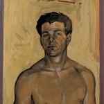 «Νέος από την Κύμη» Λάδι και χρυσό σε ξύλο, 40Χ24,8 εκ. (1995)