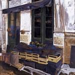 «Οπωροπωλείο στην Κάρυστο» Λάδι σε ξύλο, 90Χ90 εκ. (1995)
