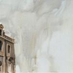 «Στην πλήξη του χρόνου» Λάδι σε μουσαμά, 35Χ120 εκ. (2004)