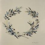 «Στεφάνι από ελιά» Λάδι σε μουσαμά, 50Χ45 εκ. (2004)