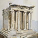 «Ο Ναός της Αθηνάς Νίκης» Λάδι σε μουσαμά, 185Χ130 εκ. (2007) συλλογή: ΝΙΚΙ SHIPPING COMPANY Inc