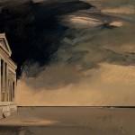 «Το σκοτεινό παράθυρο» Λάδι σε ξύλο, 50Χ70 εκ. (2001)