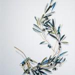 «Κλάδος Ελαίας» Λάδι σε μουσαμά, 50Χ40 εκ. (2007)