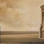 «Από ένα ήσυχο απόγευμα» Λάδι σε ξύλο, 50Χ70 εκ. (2001)