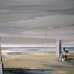 «O Έρωτας σε παραλία τον χειμώνα» Λάδι σε ξύλο, 60Χ80 εκ. (2007)