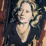 «H ηθοποιός Άννα Κυριακού» Λάδι και χρυσό σε ξύλο, 50Χ35 εκ. (2007)
