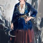Μανιάτισσα Η γυναίκα της μάχης του Διρού (70X40 Λάδι σε λινό)